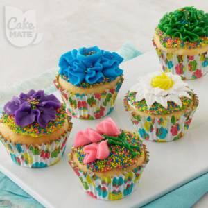 Spring Flower Garden Cupcakes