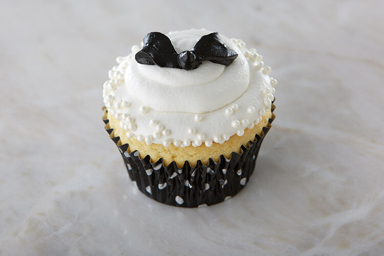 Black and White Little Bow Cupcakes from Cake Mate with Pearl Sprinkles