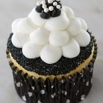 Black and White Bubble Dot Cupcakes from Cake Mate with Pearl Sprinkles