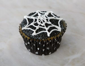 Spooky Spider Web Cupcakes