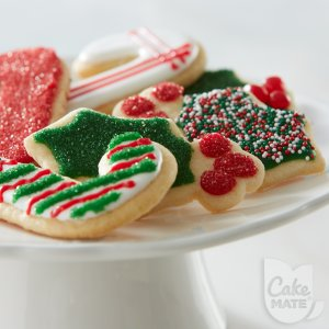Candy Cane & Holly Cookies