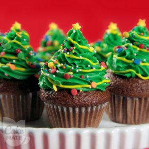 Mini Cupcake Christmas Trees